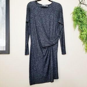 Athleta | Gray Long Sleeve Twist Front Dress